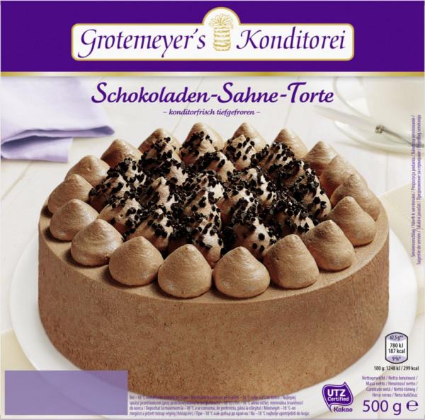 Schoko Torte, tiefgekühlt