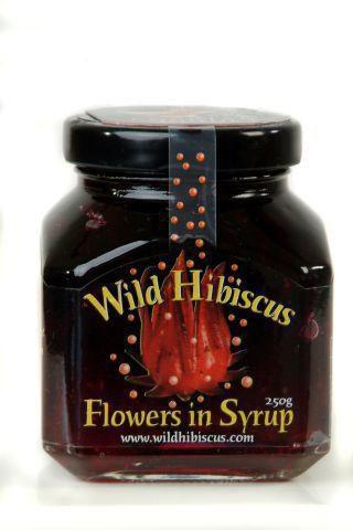 Wilde Hibiskusblüten in Sirup