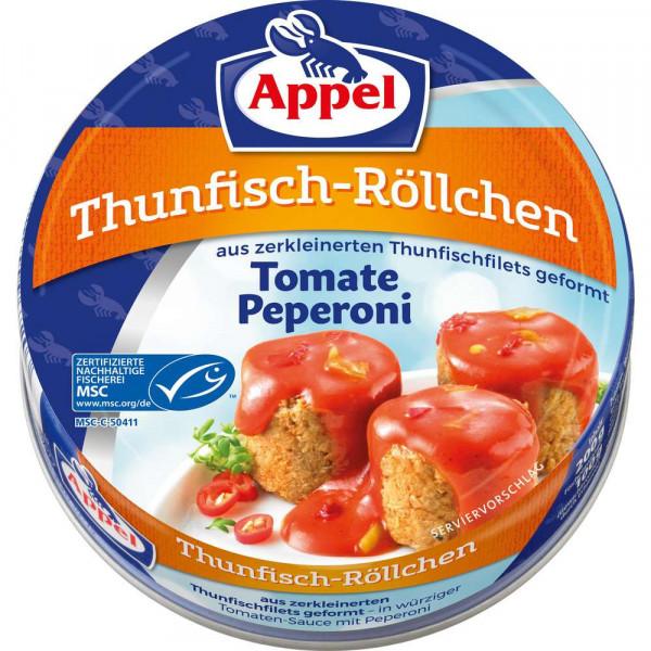 Thunfisch-Röllchen, Tomate Peperoni