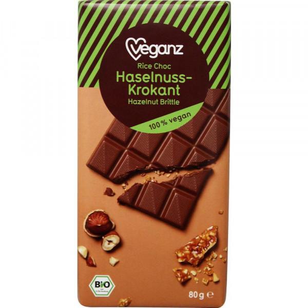 "Reis-Schokolade ""Haselnuss-Krokant"", vegan"