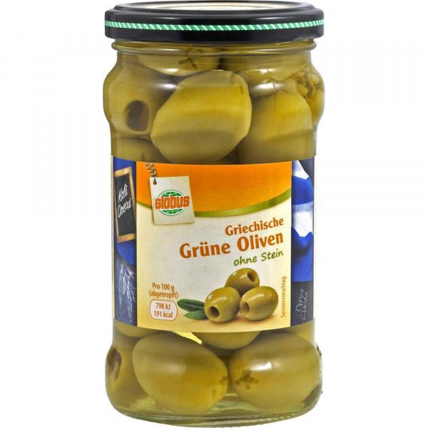 Griechische grüne Oliven ohne Stein