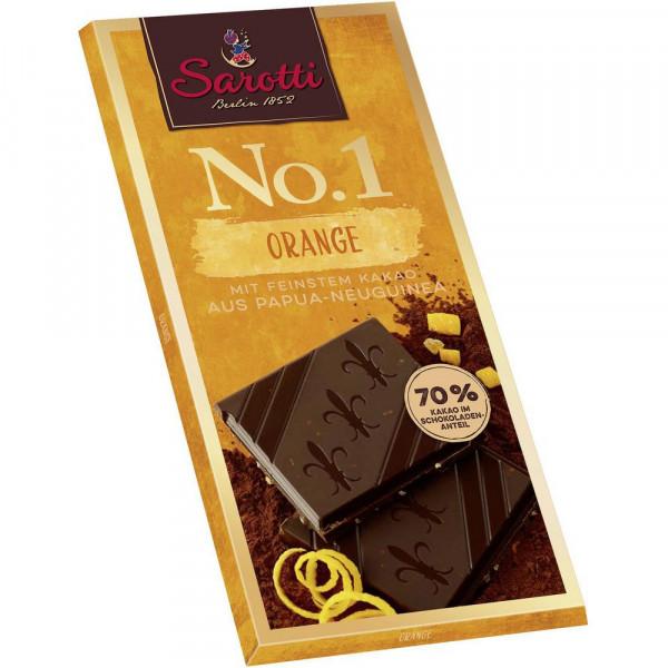 """Tafelschokolade """"No. 1"""", Kakao 72% mit Orange"""