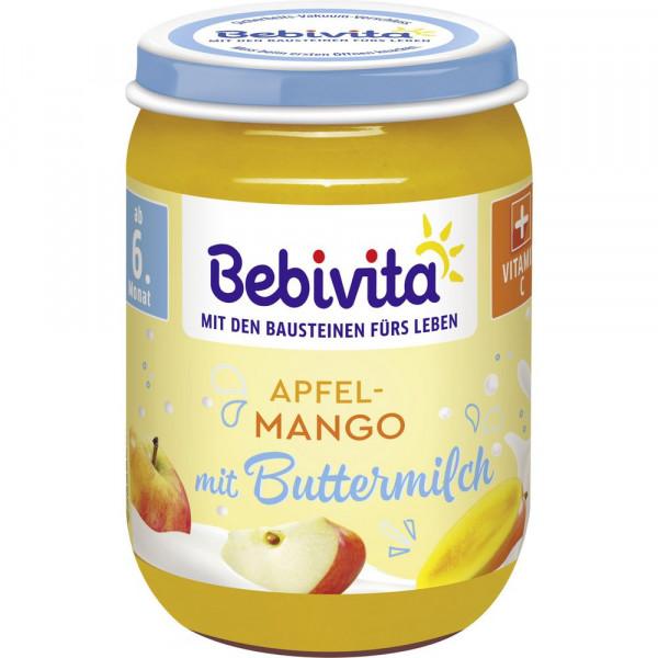 Babynahrung Frucht & Buttermilch, Apfel/Mango
