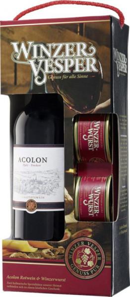 Gepa Rotwein Acolon Pfalz QBA + Winzerwurst
