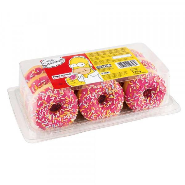 Simpsons Mini Donuts, pink glazed
