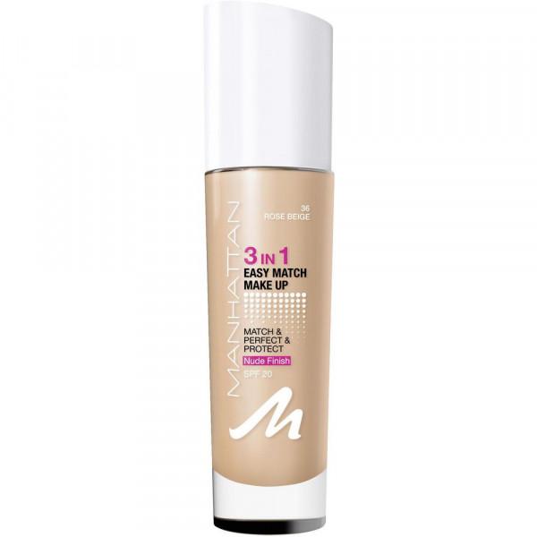 Make-Up Easy Match 3 in 1, Rose Beige 36