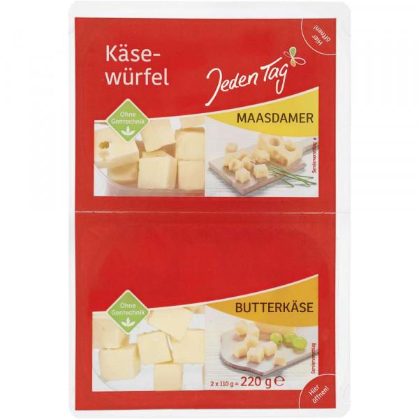 Käsewürfel Maasdamer + Butterkäse