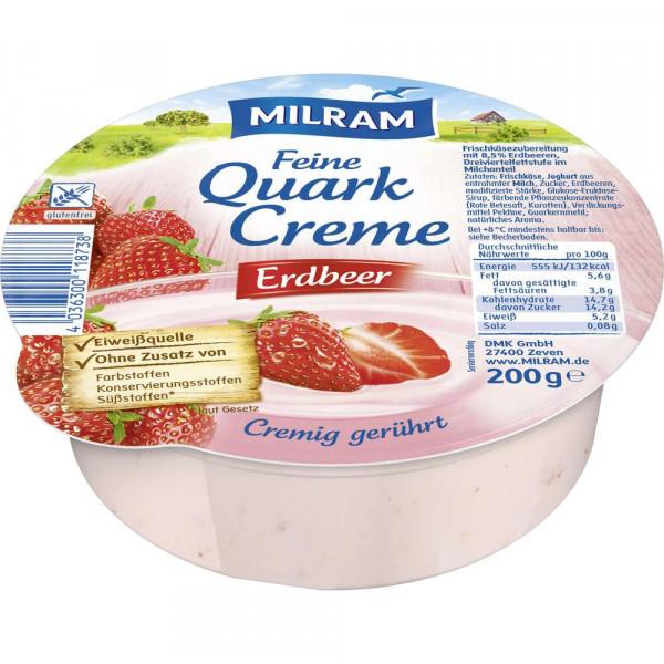 Quarkcreme, Erdbeere