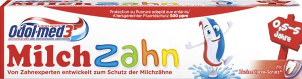 Kinder Zahncreme, Milchzahn