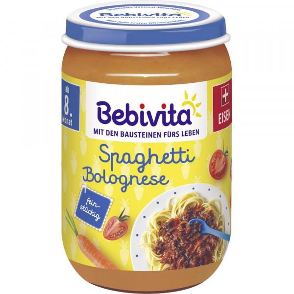 Babynahrung Menü, Spaghetti Bolognese