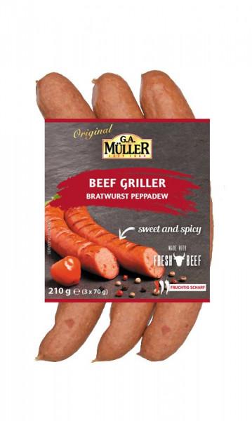 Beef Griller, Bratwurst Peppadew