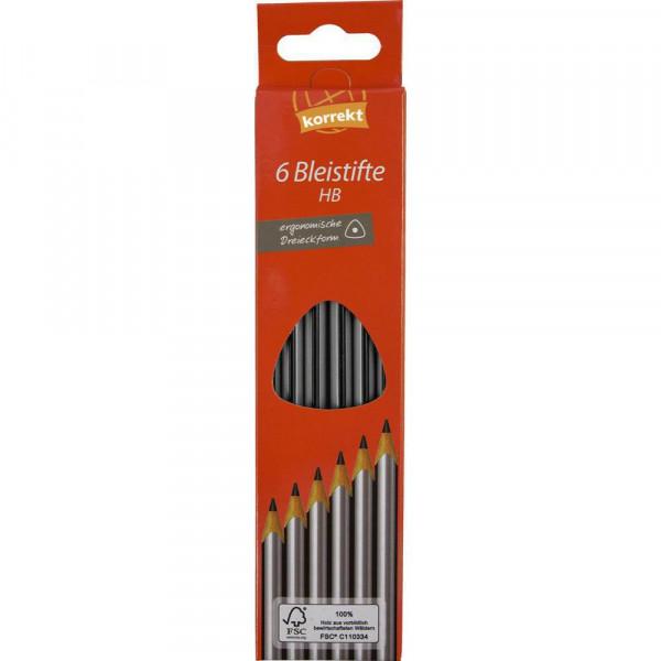 Bleistifte HB, dreikant