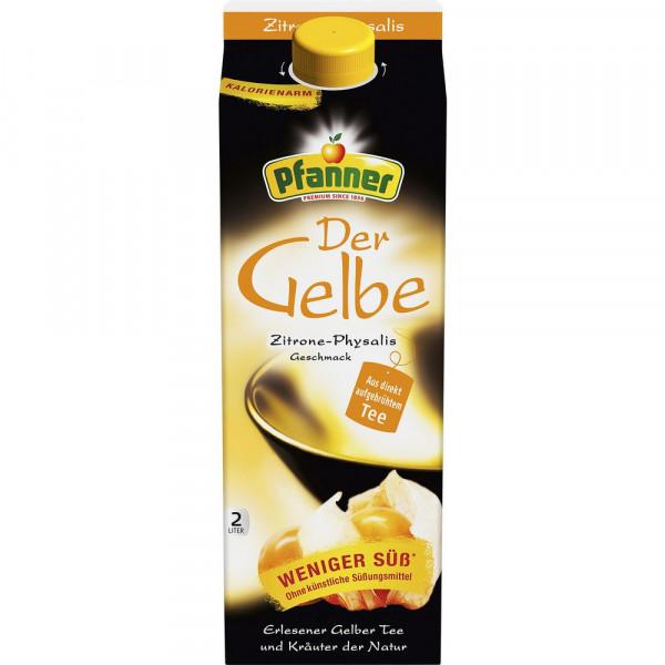 Der Gelbe Eistee, Zitrone-Physalis
