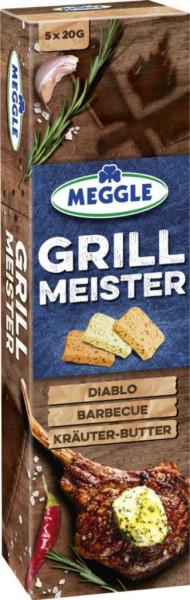 "Butterzubereitung ""Grillmeister"", Diablo/ Barbecue/ Kräuter"