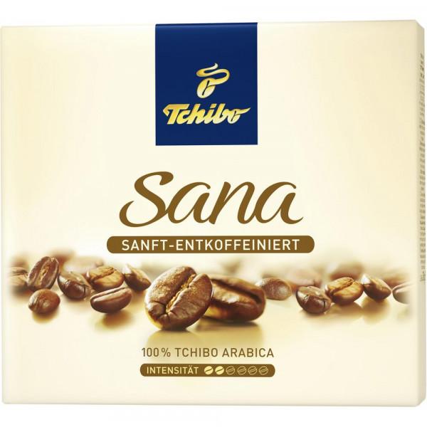 Kaffee Sana sanft & entkoffeiniert, gemahlen