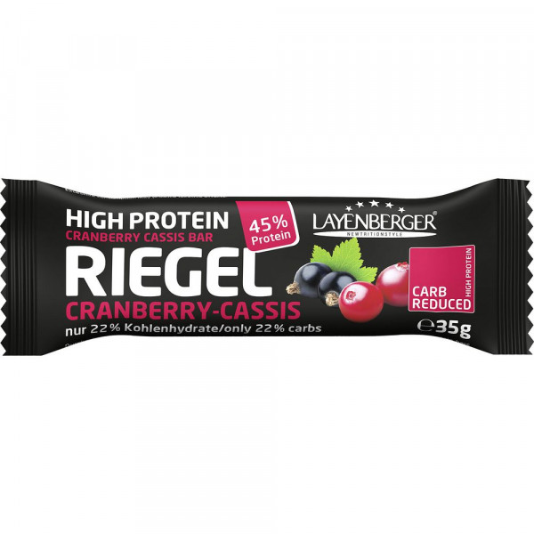 LowCarb.one Proteinriegel, Cranberry-Cassis