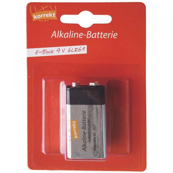 Batterie 9 V Block, 6LR61 Alkaline