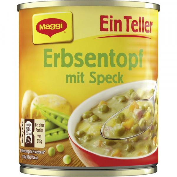 """Erbsen-Eintopf """"Ein Teller"""", mit Speck"""