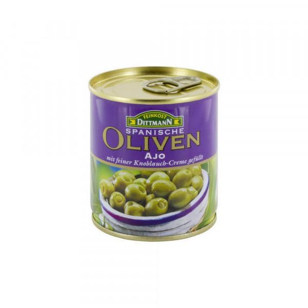 Oliven, gefüllt mit Knoblauch-Creme