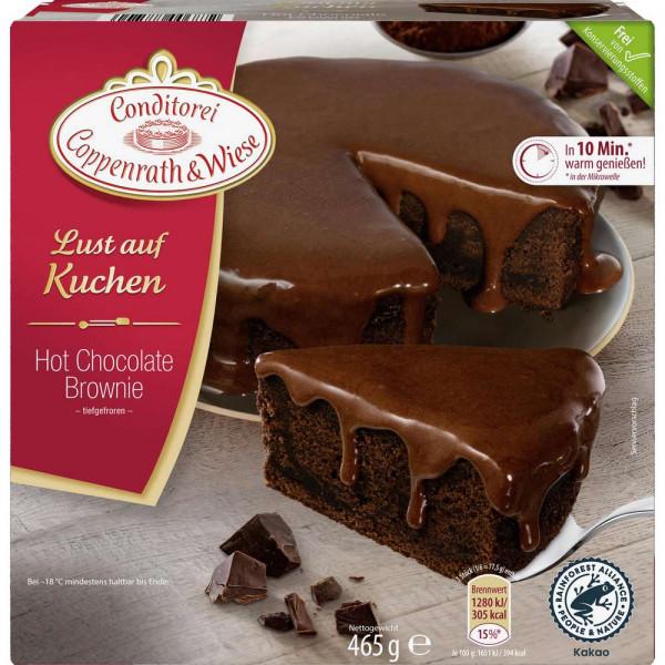 Hot Chocolate-Brownie Kuchen, tiefgekühlt