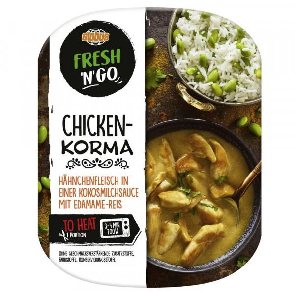 Chicken Korma mit Edamame-Reis