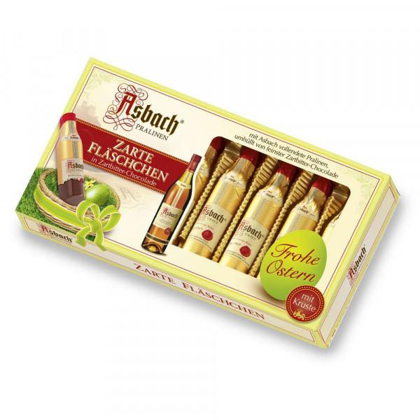 Zarte Fläschchen in Zartbitter-Chocolade