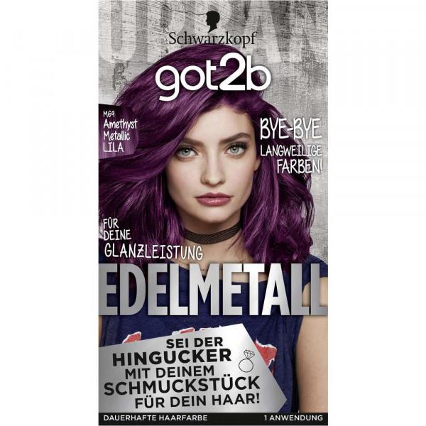 "Haarfarbe ""got2b"", M69 Amethyst Metallic Lila"