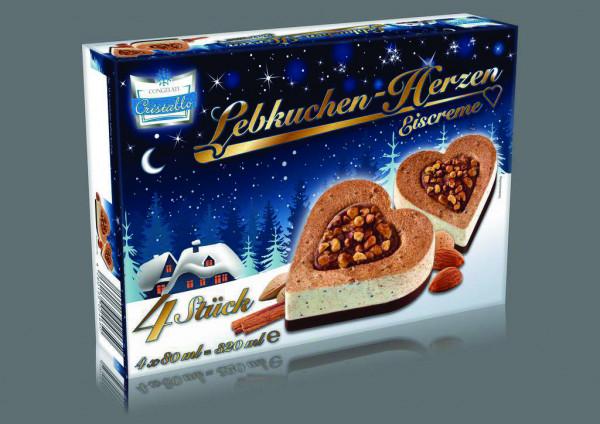 Lebkuchenherzen-Eis 4er