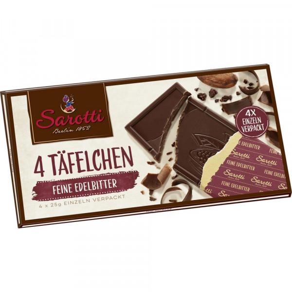 """Schokolade """"4 Täfelchen"""", Edelbitter"""