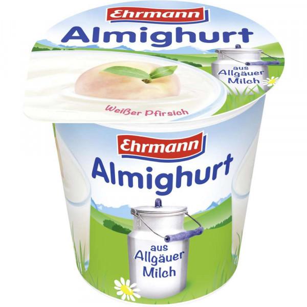 Fruchtjoghurt, weißer Pfirsich