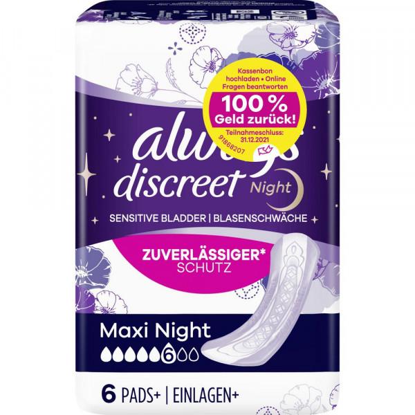Discreet Inkontinenz Einlagen, Maxi Night