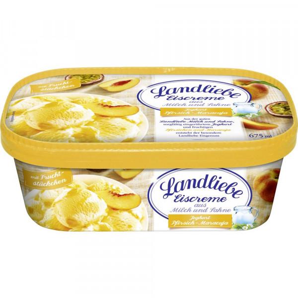 Eiscreme Joghurt, Pfirsich-Maracuja
