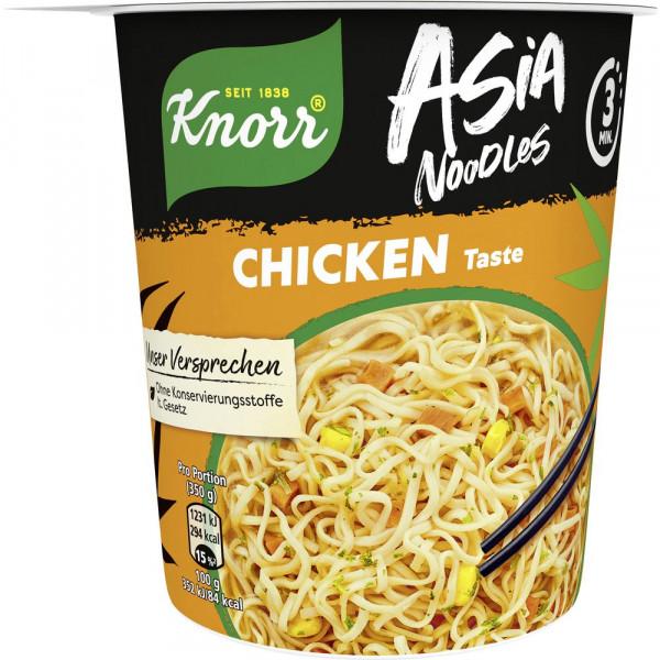 Asia-Nudeln Bechergericht, Chicken