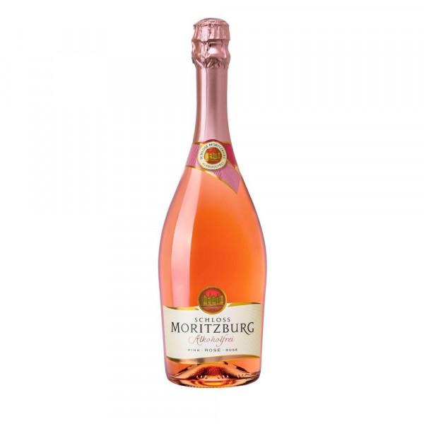 Rosé schäumendes Getränk aus alkoholfreiem Wein