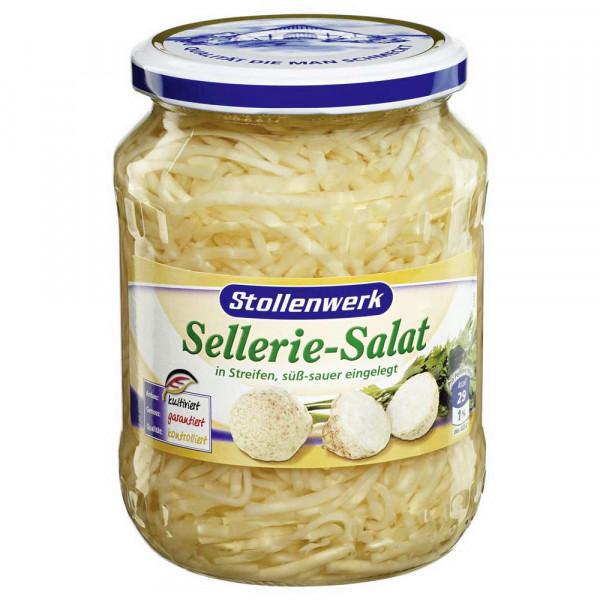 Sellerie-Salat, in Streifen