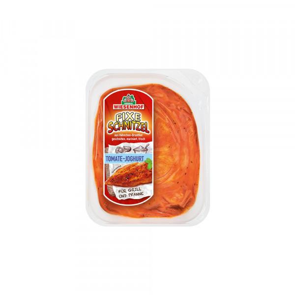 """Hähnchen Minutensteaks """"Fixe Schnitzel"""", Tomate/Joghurt"""