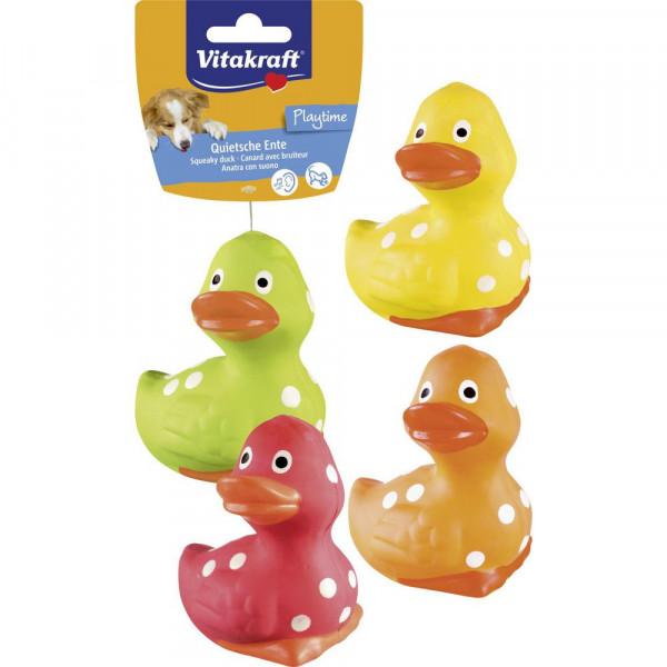 Hundespielzeug Latex Ente, verschiedene Farben