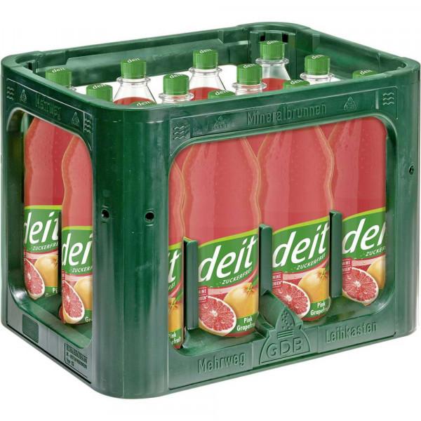 Limonade Pink Grapefruit, zuckerfrei (12 x 1 Liter)