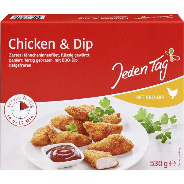 Chicken Nuggets + Dip, tiefgekühlt