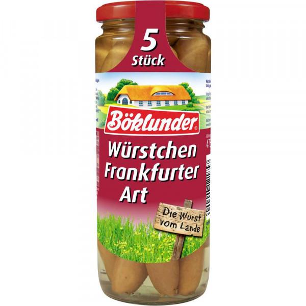 Würstchen, Frankfurter Art