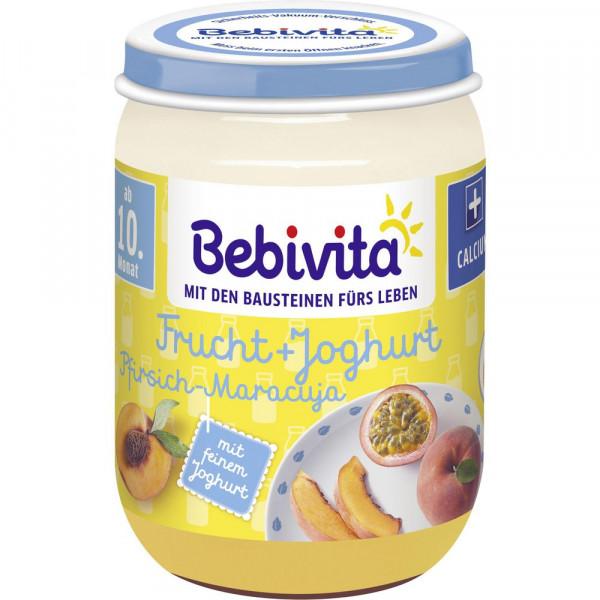 Babynahrung Frucht + Joghurt, Pfirsich/Maracuja