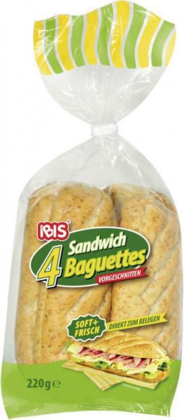 Sandwich Baguettes, zum Aufbacken
