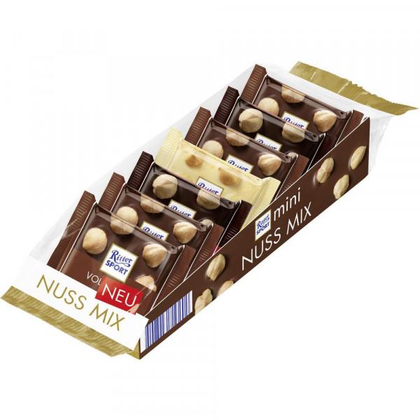Tafelschokolade Minis, Nuss-Mix