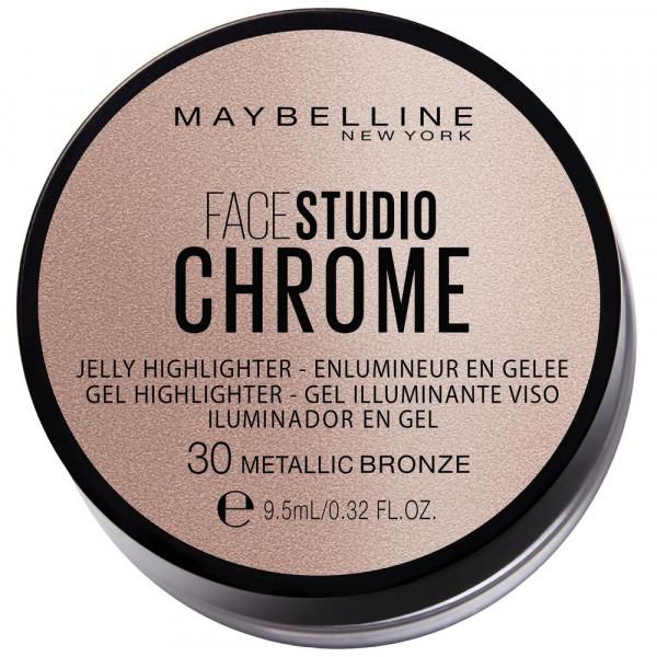 Gel Highlighter Face Studio Chrome, Metallic Bronze 30