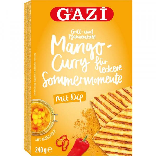 Grillkäse Mango-Curry