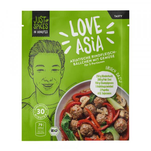 """Bio Gewürzmischung """"Asiatische Rindfleischbällchen mit Gemüse"""""""