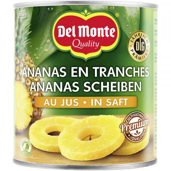 Ananas Scheiben in Saft, natursüß