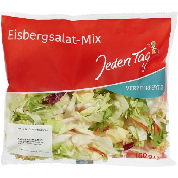 Eisbergsalat-Mix, verzehrfertig