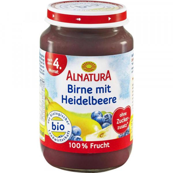 Babynahrung Früchte Birne/Heidelbeere, nach 4. Monat