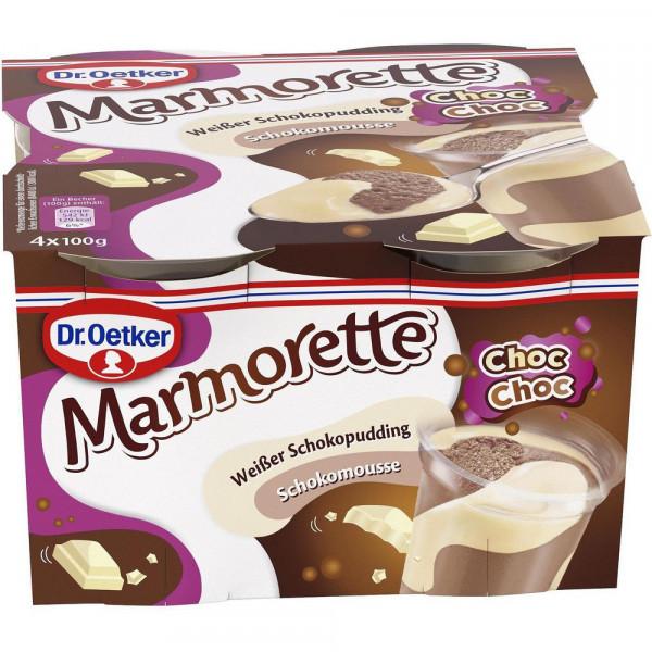 Marmorette, weißer Schokopudding